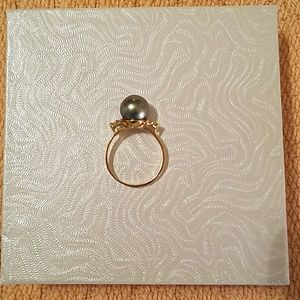 Ross-Simons Black Pearl Ring